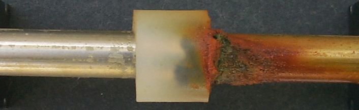 Figure 3: Result of a crevice corrosion test on lean duplex stainless steel
