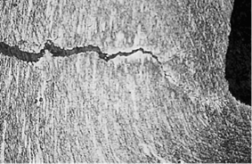 Figure 4: Micrograph of the Weld & Heat Affected Zone of a C-Ring Specimen