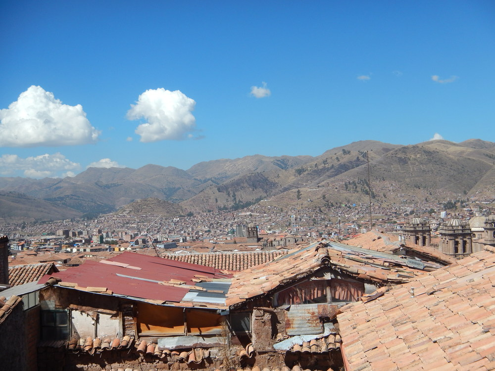They view from my current hostel and the valley of Cusco. The owner, Guillermo, has been a great guide to the area. He and his wife got the place a few months ago, but she is pregnant and went back to Lima (a 24 hour drive) to be with her family and because the services there are better.