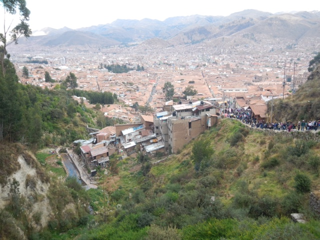 The city of Cusco, Peru.