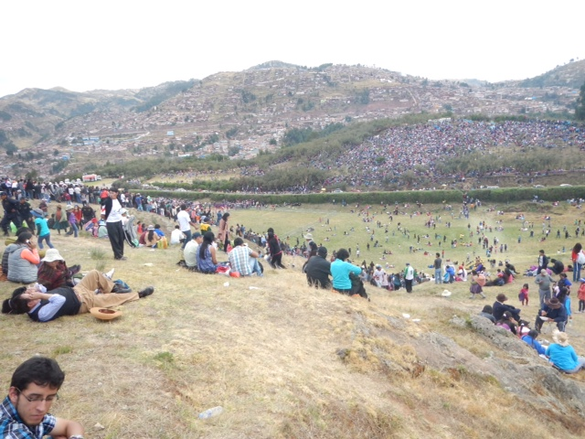 The religious ceremony for Inti Raymi.