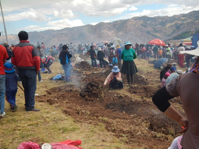 A part of the cooking portion of Inti Raymi.
