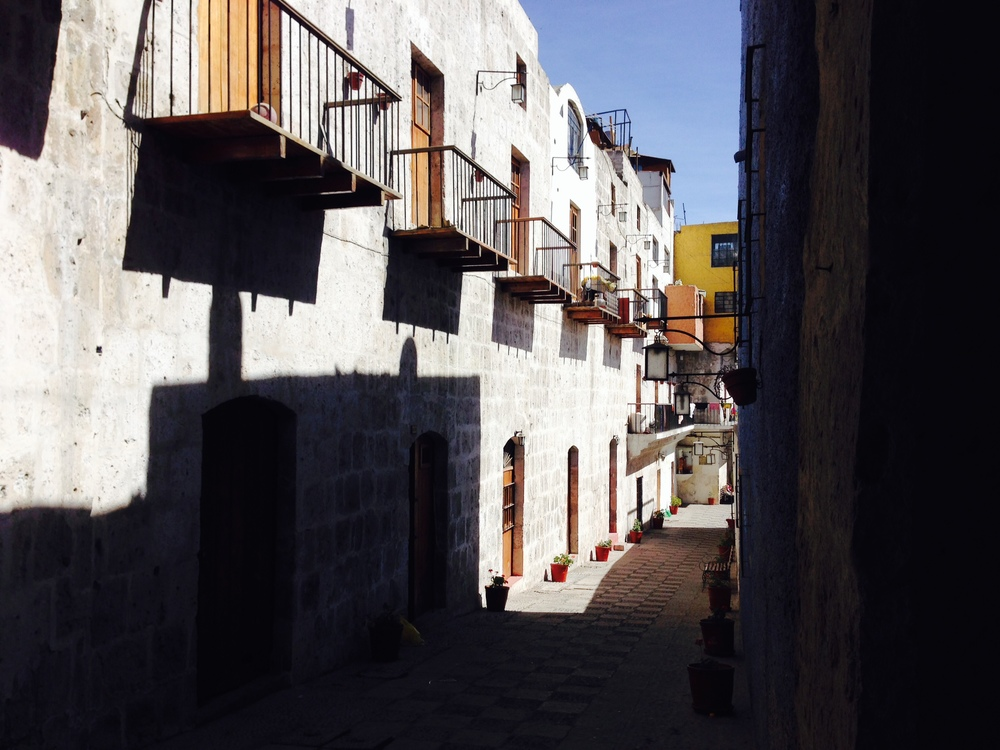Quiet little side street in Arequipa
