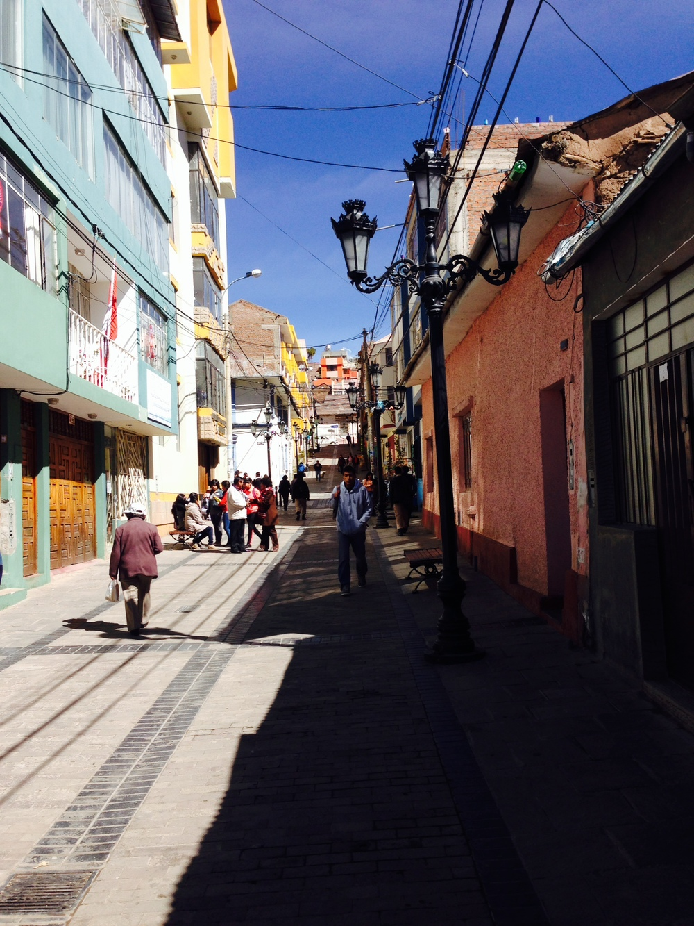 Near the main square in Puno