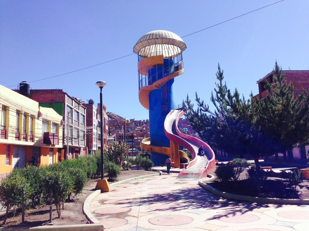 Cool park in the middle of Puno