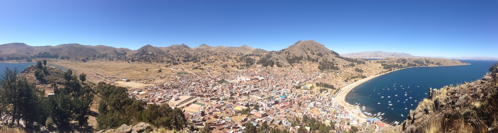 Copacabana, my first stop in Bolivia. It's right on the other side if the border from Peru.