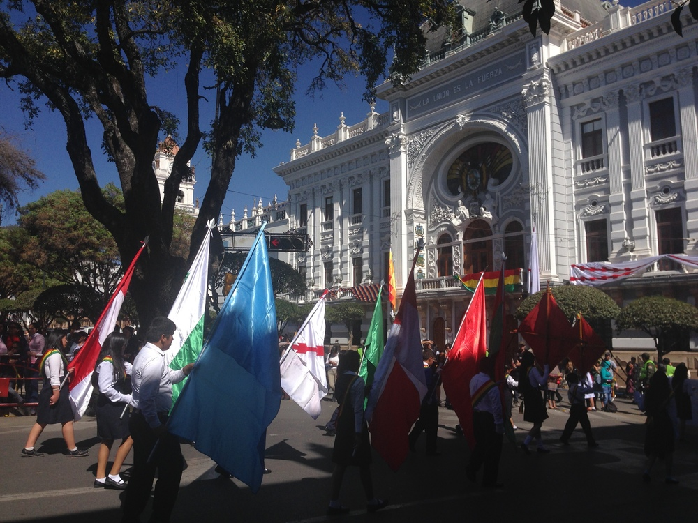 Part of the Bolivian Independence Day parade
