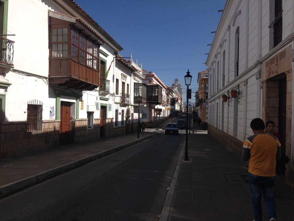 A side street in Sucre
