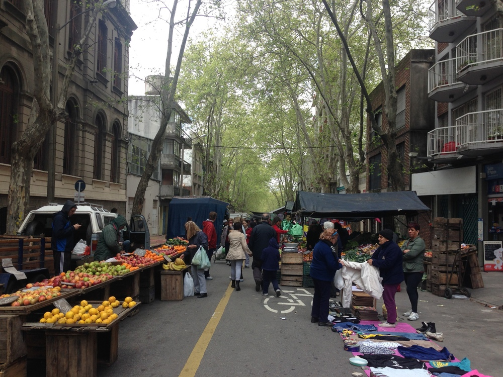 Public markets happen everyday in Latin America. This one is in Uruguay.