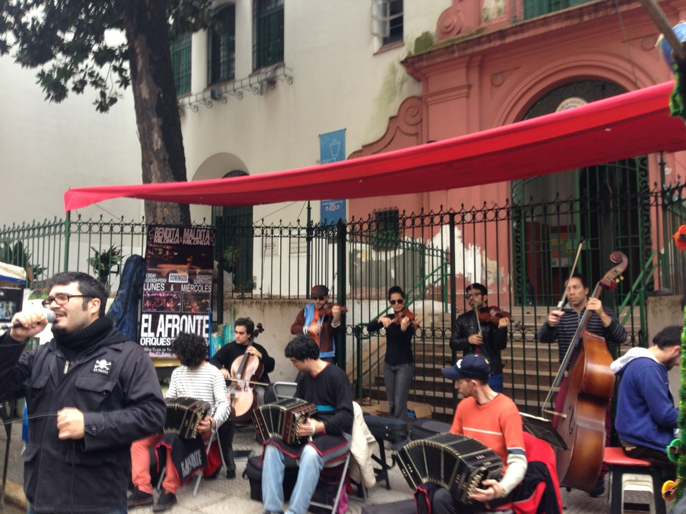 Buenos Aires is famous for its tango music, which these guys were playing at a street fair.