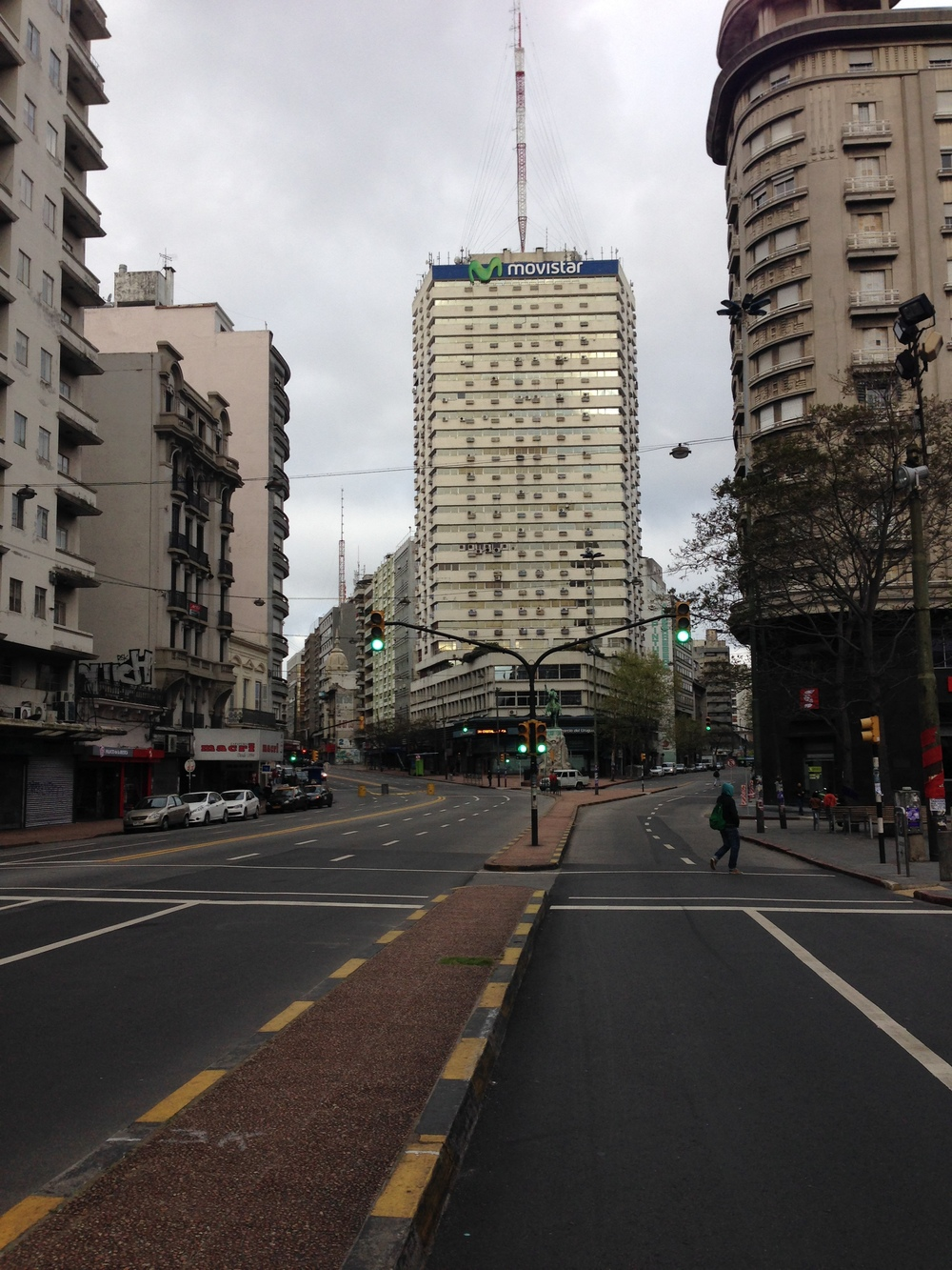 This is downtown Montevideo at 5:30 on a weekday...