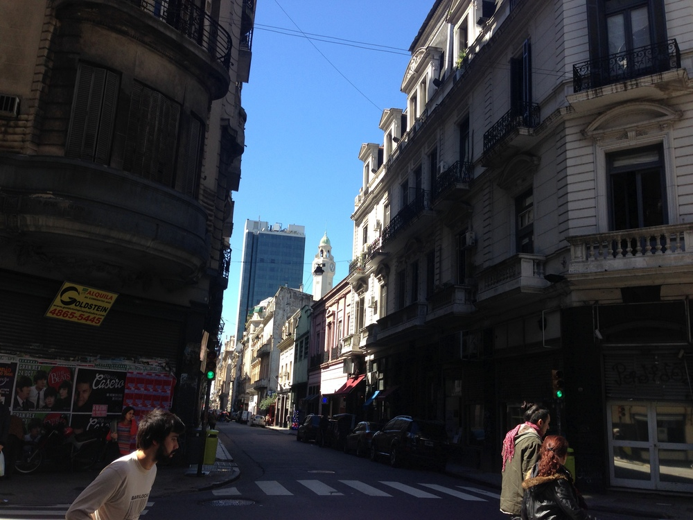 Just a backstreet in Buenos Aires