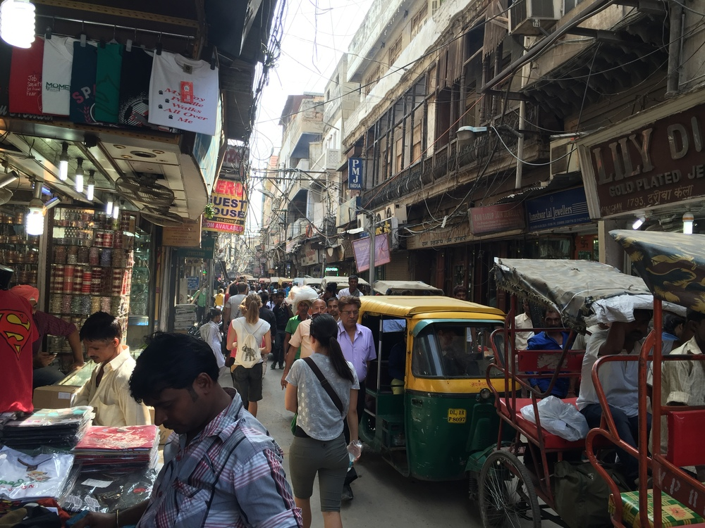 The Old Delhi market area