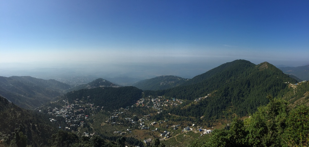 Went for a hike above Dharamsala today. The boarding school for the kids is way over there on the right.
