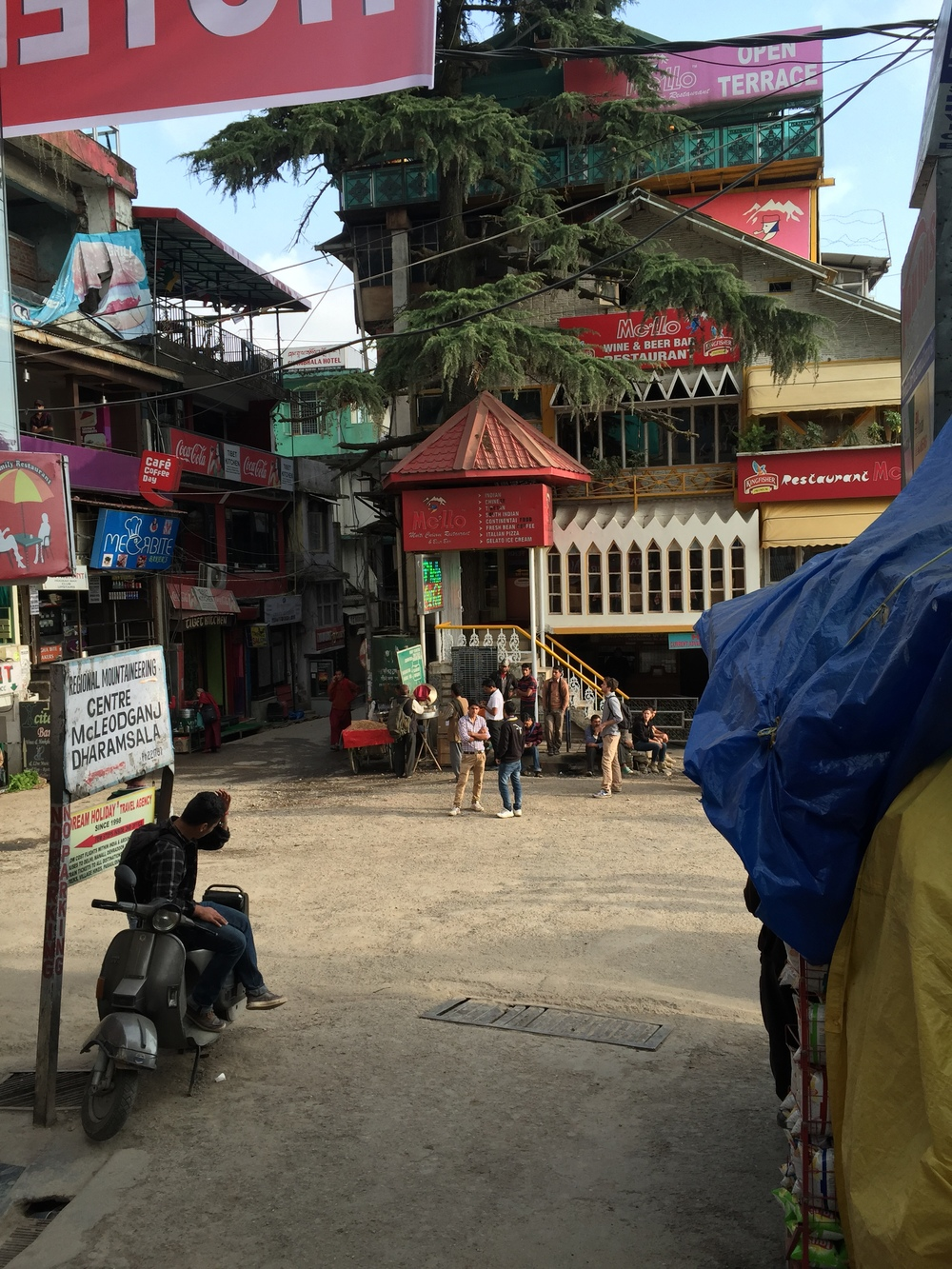 The central square in Mcleodganj