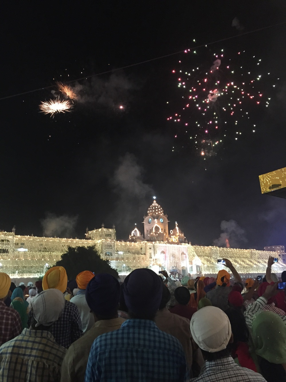 Fireworks came later over the Golden Temple. The festival signify light's rule over darkness and the power of good over evil.