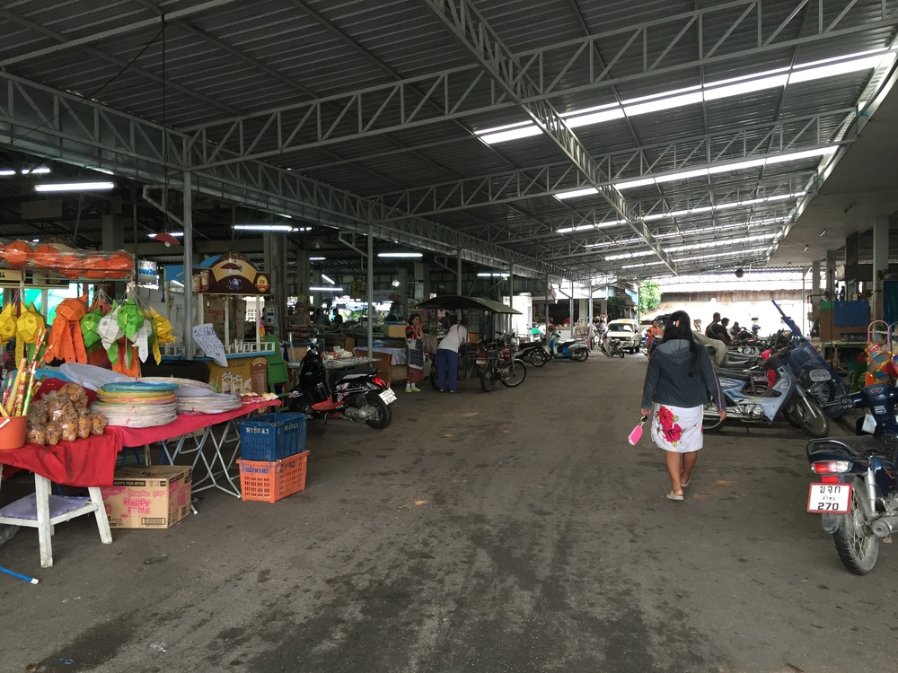 I did a Thai cooking class outside the city and this was the market we went to see ingredients. I actually bought a lot of traditional medicine here to send home.  This was my first cooking class but it was a great way to get deeper into the food culture.