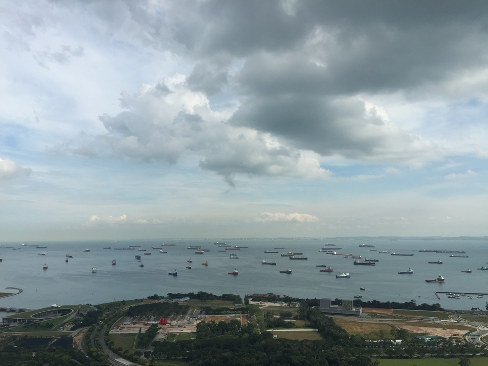 So many boats in Singapore!!