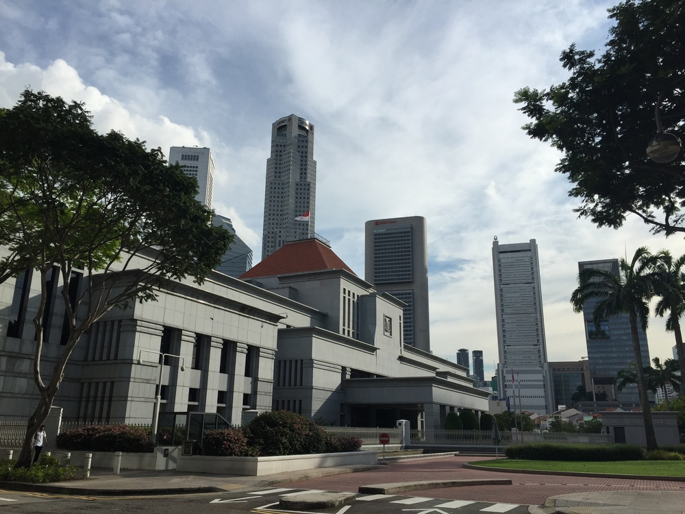 I was walking back to my hostel and I came across the Parliament of Singapore! I just walked inside and nobody stopped me so I had a look around. Across the street was the Supreme Court of Singapore so I went in there too. Very fun.