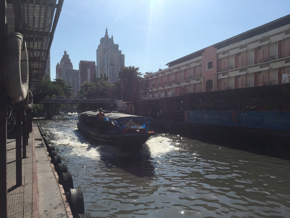 Back in Bangkok, Thailand! Commuting on the roads is rough because of the traffic but the canal boats are great!