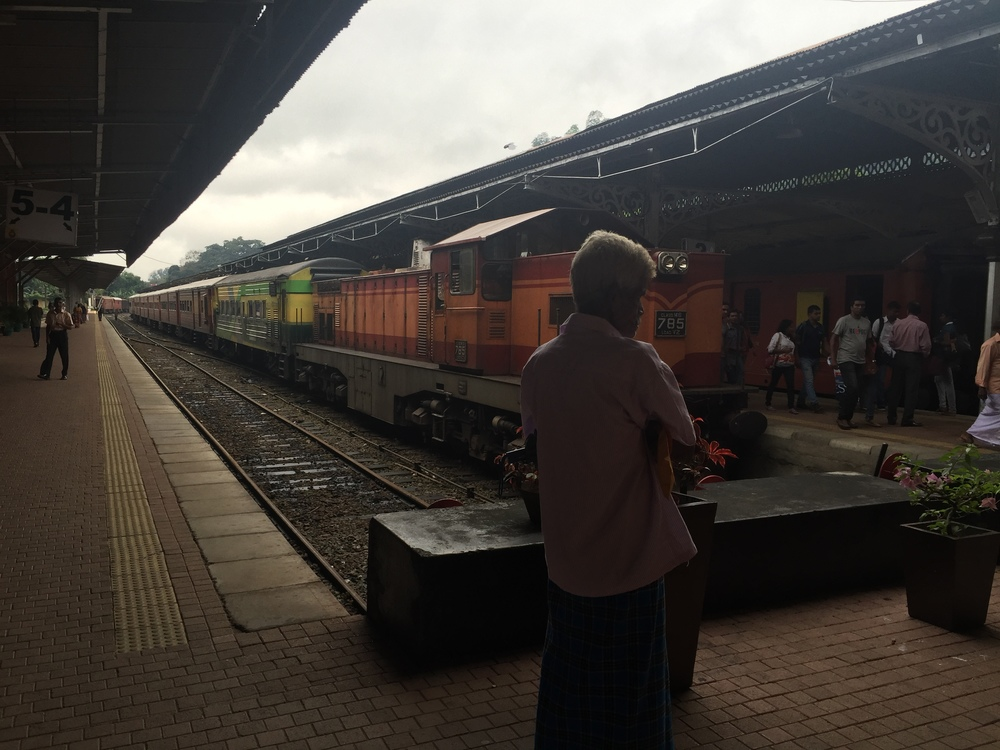 Arriving to Kandy from Colombo