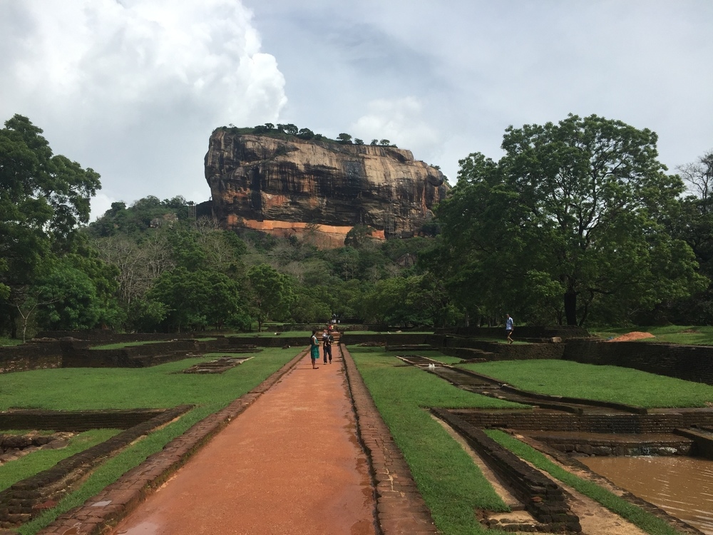 Sigiriya is a huge rock that used to have a palace on top of it. I actually hitched the last km here with some Sri Lankans and they were really nice, and then I met another Sri Lankan family on the way up. Everyone is so interested to talk you! And it was the second time a father jokingly(ish?) mentioned that his daughter was unmarried and would like to talk to me....