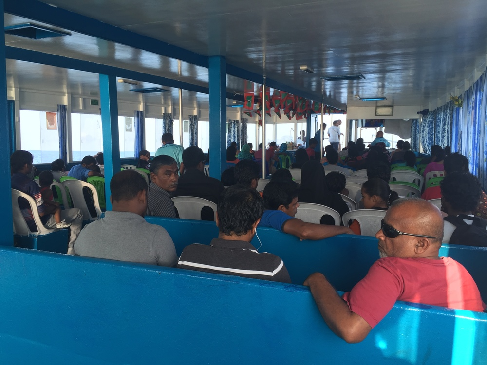 Inside a typical ferry