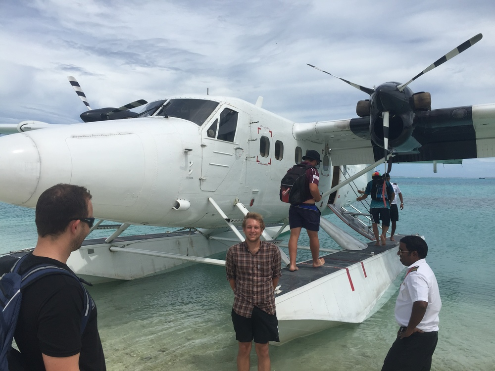 The Mayor of Addu, a friend, hooked me up with a free ride on a sea plane when another group chartered it.