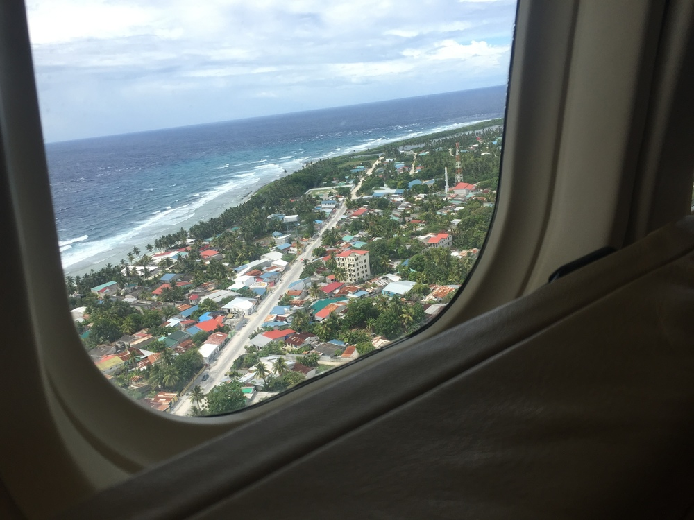 Part of Addu from the sea plane.