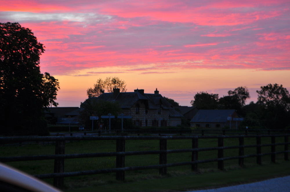 Farm sunsets