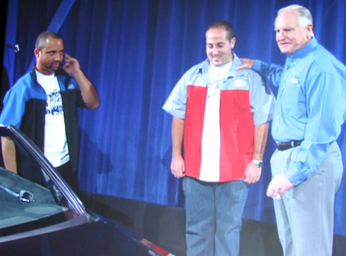 Barrett introduced the President of Innovation and Tech, Mike Martin and President of Marketing Mike Megdal of West Coast Customs.