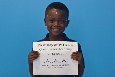 Our first grade scholar, Reginald!