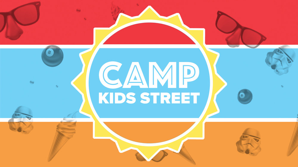 BEST. SUMMER. EVER.It begins July 9th. - Camp Kids Street is the place to be! Kids K-5 will have a blast at our FREE, week-long day camp, July 9-13.