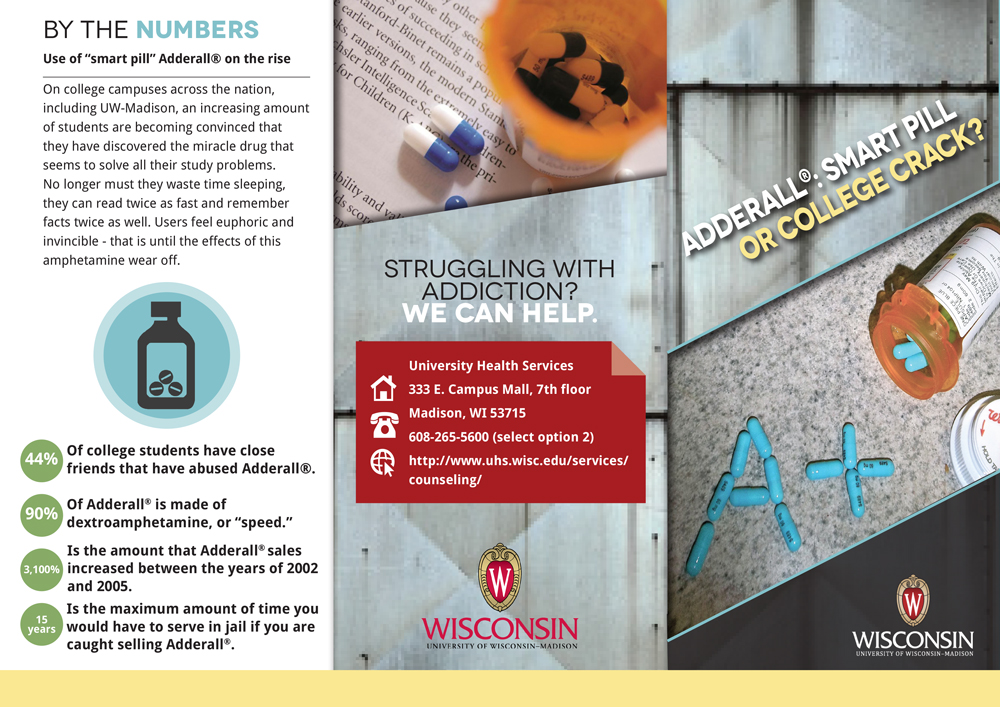 Adderall Facts Tri-Fold Brochure | Brittany Johnson