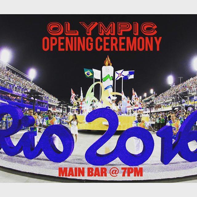 Come watch the #openingceremony of the 2016 #rioolympics 7pm in the Third Floor Main Bar. #rio🇧🇷 #usa🇺🇸 #olympics #williamsburg #ESHBrooklyn #woodfired #BBQ #cocktails @marcbutcavage