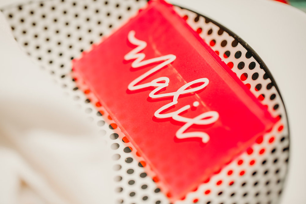 love-fern-design-studio-custom-wedding-invitations-for-the-modern-couple-modern-calligraphy-in-seattle-washington-custom-wedding-stationery-neon-acrylic-retro-Vegas-elopement-place-card