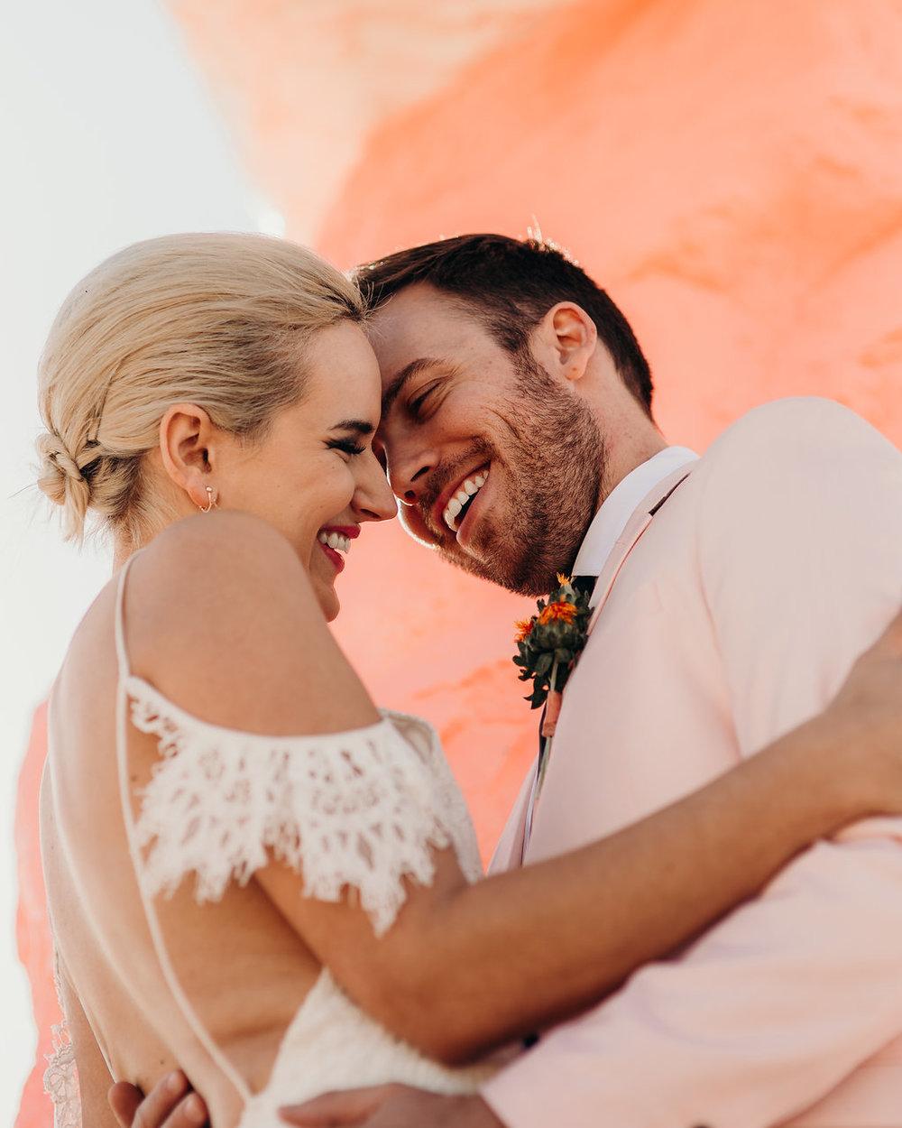 love-fern-design-studio-custom-wedding-invitations-for-the-modern-couple-modern-calligraphy-in-seattle-washington-custom-wedding-stationery-neon-acrylic-retro-Vegas-elopement-seven-magic-mountains