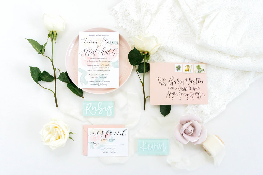 love-fern-design-studio-custom-wedding-invitations-for-the-modern-couple-modern-calligraphy-in-seattle-washington-custom-wedding-stationery-light-pink-watercolor-floral-invitation