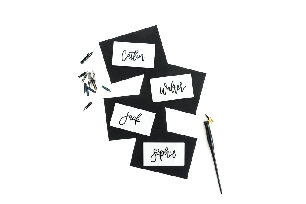love-fern-design-studio-custom-wedding-invitations-for-the-modern-couple-modern-calligraphy-in-seattle-washington-custom-wedding-stationery-acrylic-place-card-in-pearl