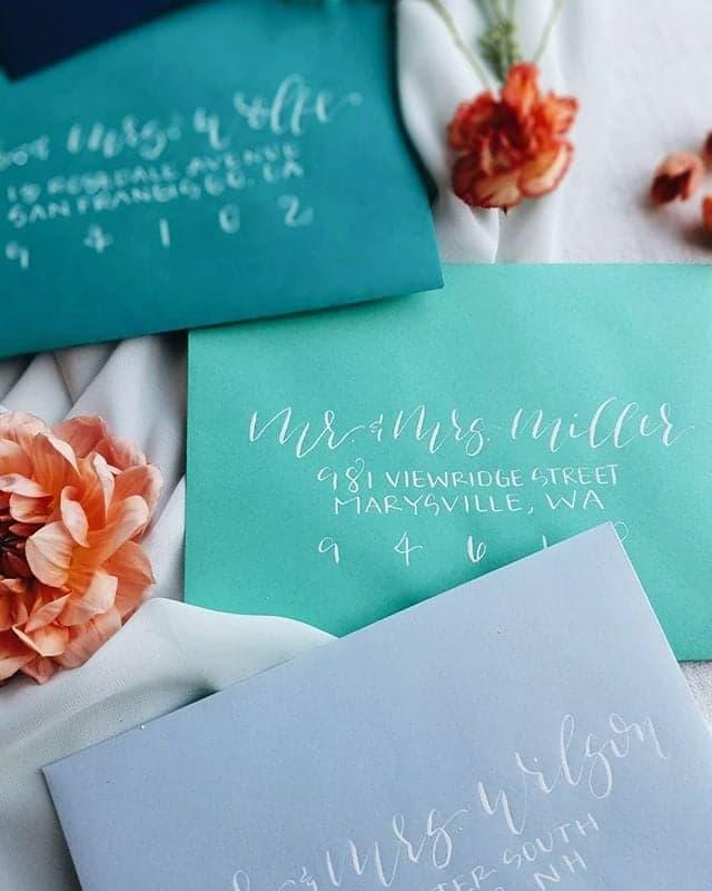 love-fern-design-studio-custom-wedding-invitations-for-the-modern-couple-modern-calligraphy-in-seattle-washington-custom-wedding-stationery-navy-teal-french-blue-ombre-envelopes