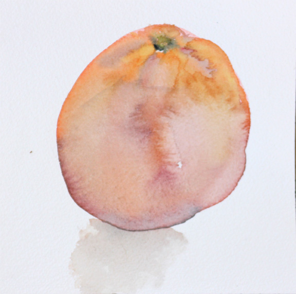 orange watercolor