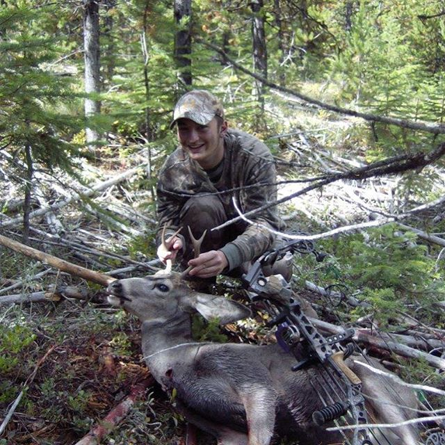 Success!!! Is this the fun part or ? What's for dinner...back strap of course! #bowhunting #elkhunting #deerhunting #huntinggear