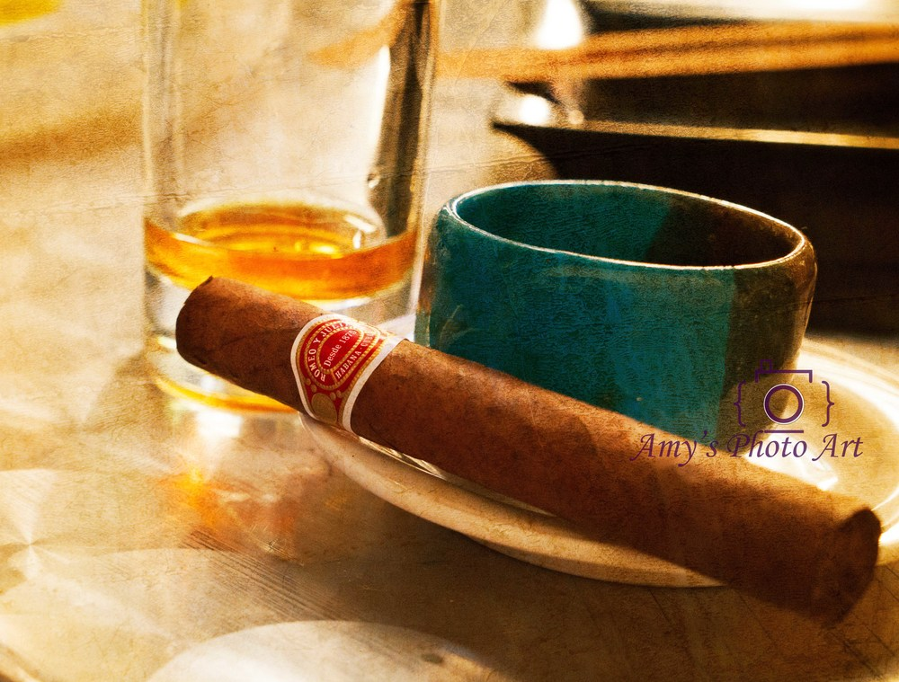 A marriage of 3... Cigar, Coffee, and Rum.