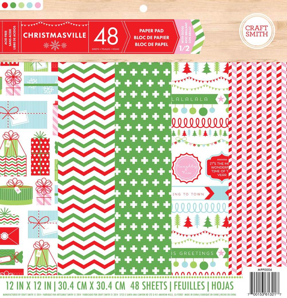 Craft Smith Christmasville Paper Pad 12 Quot X12 Quot 24 Designs