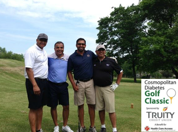 Many businesses and organizations sponsor the Cosompolitan Golf Tournament in Lawrence, Kansas.