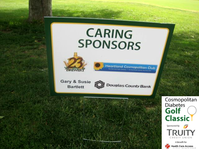 Many organizations and business sponsor the Cosmopolitan Golf Tournament in Lawrence, Kansas.