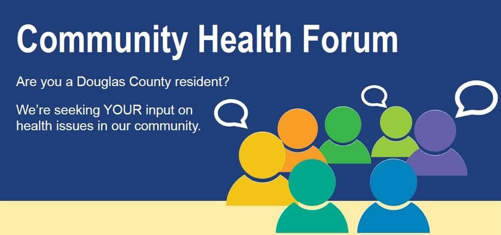 Community Health Forums scheduled this week! •                     Tuesday, Aug. 22 -11:30 a.m.-1:30 p.m., Community Health Facility, 200 Maine Street, Lawrence •                     Wednesday, Aug. 23 - 6:30-8:30 p.m., Eudora Community Recreation Center, 1638 Elm Street, Eudora •                     Thursday, Aug. 24 - 5-7 p.m., Lawrence Public Library auditorium, 707 Vermont Street, Lawrence You will learn about recently-collected health data and get the opportunity to weigh in on what issues matter most to you: •                     Access to affordable housing •                     Alcohol, tobacco and drugs •                     Barriers to accessing healthy foods and food insecurity •                     Child abuse and neglect •                     Discrimination •                     Mental health •                     Physical activity •                     Preventive care services and clinical linkages •                     Poverty and good-paying jobs The forums are open to the public, and there will be FREE FOOD and drinks! For more info, visit http://ldchealth.org/CivicAlerts.aspx?AID=129