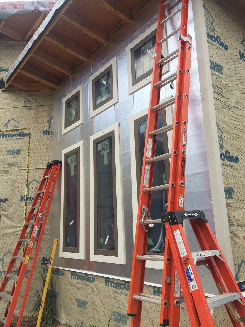 Exterior rigid insulation