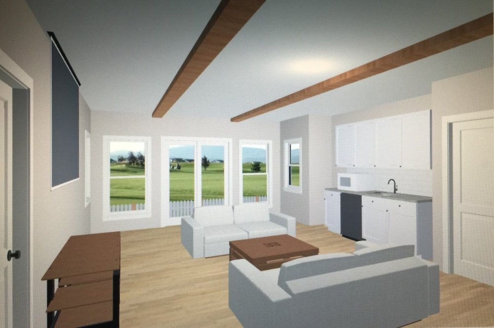 Downstairs living area concept