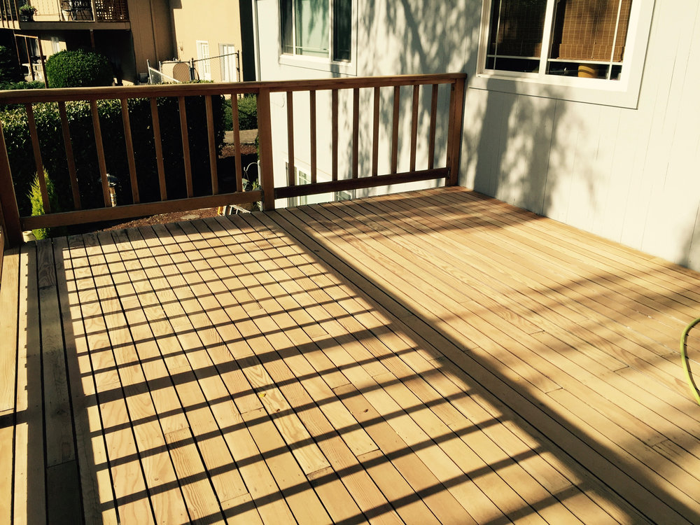 Deck After Refinishing